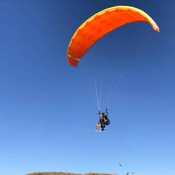 Extreme track went paragliding along the mediterrranean coast near kibbutz shefayim