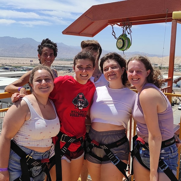 Getting ready to bungee jump
