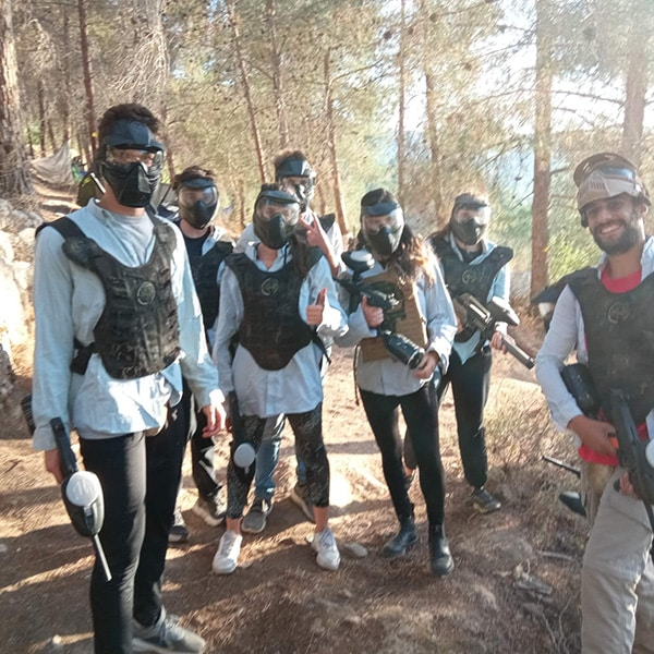 Paintball in the jerusalem forest