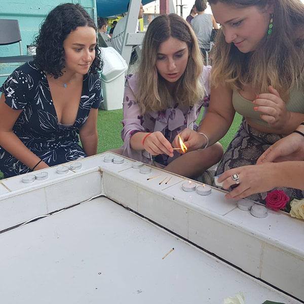 Lighting the shabbat candles