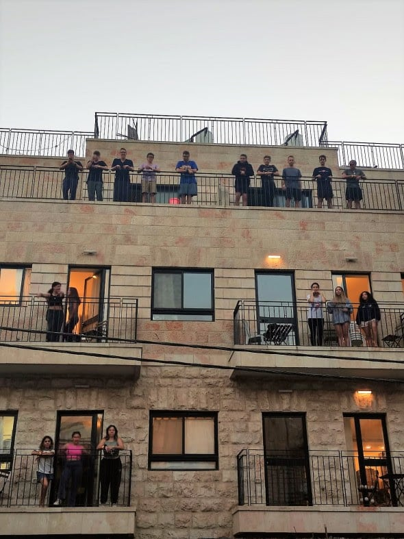 Jerusalem students are making the best out of quarantine!
