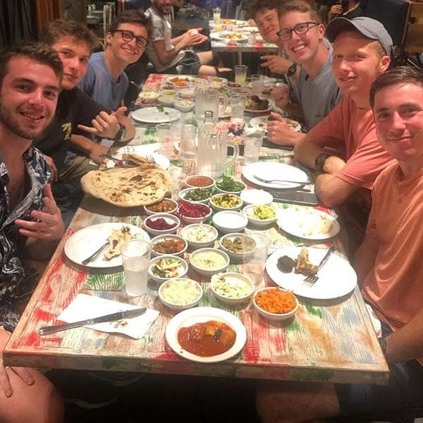 Daniel, cooper, jaime, robby, jake, elliot, and max on rosh hashana eve!