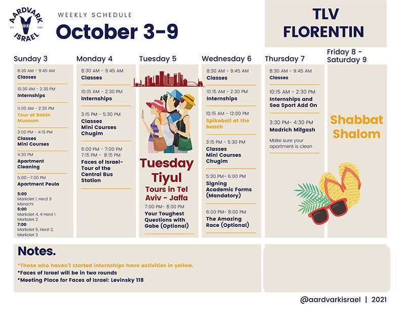 October weekly schedule- florentin (1)